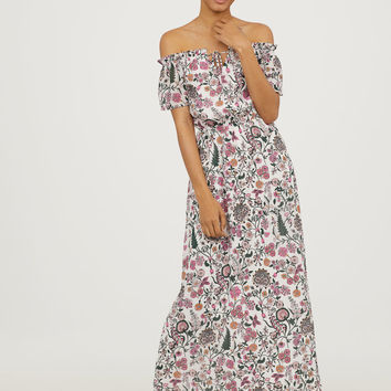 H&M Long Off-the-shoulder Dress $24.99
