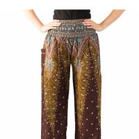 Tribal pants Yoga pants Bangkok Thai pants Harem pants Boho pants Jinni pants Hippie clothes elephant thai pants/boho pants/gypsy pants