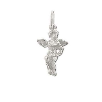 Sterling Silver Angel Blowing Trumpet Charm Pendant