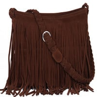 Women's Fringe Tassel Crossbody Shoulder Bag