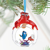 Disney Store 2016 Finding Dory Globe Sketchbook Christmas Ornament New w Tags