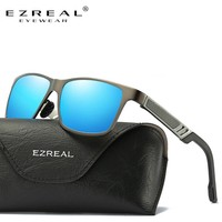 EZREAL Men Aluminum Polarized Mens Sunglasses Mirror Sun Glasses Square Goggle Eyewear Accessories For Men Or Women Female 6560