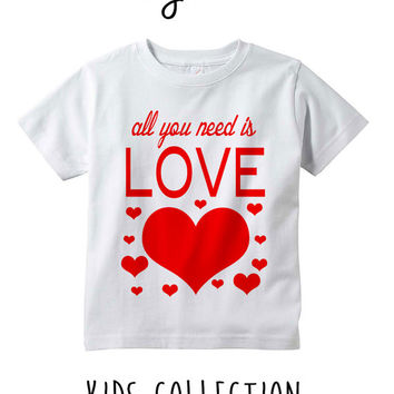All You Need Is Love Heather Grey / White Toddler Kids T Shirt Clothes Gift