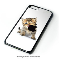 Kitten Apple Design for iPhone and iPod Touch Case