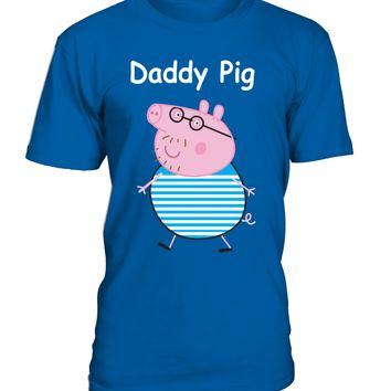 Daddy Pig Round Neck T-Shirt Unisex - Peppa Pig clothing
