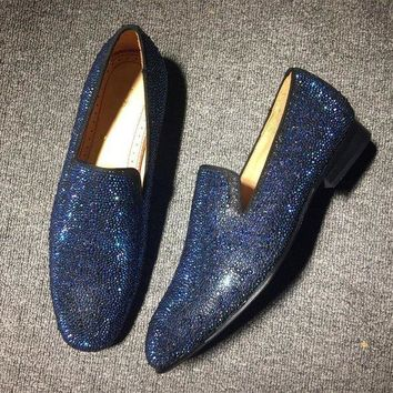 DCCK Cl Christian Louboutin Loafer Style #2416 Sneakers Fashion Shoes