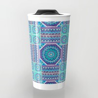 Mandala Tiles Travel Mug by Sarah Oelerich