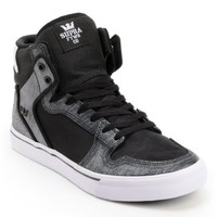 Supra Vaider Ballistic Black & Static Skate Shoes