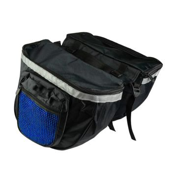 Outdoor Bike 600D PVC Cloth Rear Seat Bag Shelf Bag Bicycle Double Zipper Luggage Waterproof Bag Bicycle Accessory High Quality