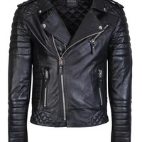 Kay Michaels Quilted Biker Oil Black - Boda Skins