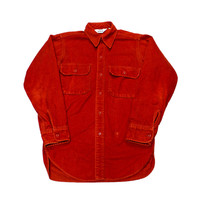 Vintage 90s Blood Orange Woolrich Button Up Shirt Mens Size Small