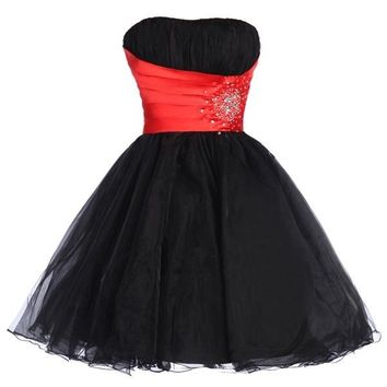 Masquerade Sexy Women Formal Prom Ball Gown Cocktail Short Party Evening Dresses