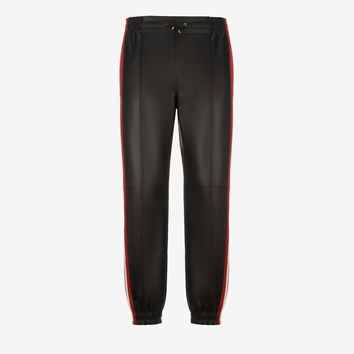 Leather Tracksuit Bottoms