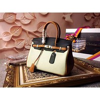 HERMES WOMEN'S NEW STYLE LEATHER BIRKIN HANDBAG SHOULDER BAG