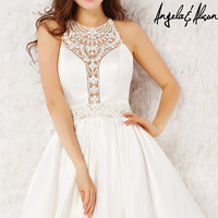 Open Back Fit and Flare Dress by Angela and Allison
