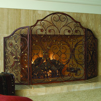 Provincial Fireplace Screen Tr