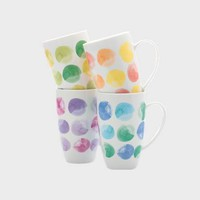 Colour Drops Mug 420ML Set of 4 Gift Boxed