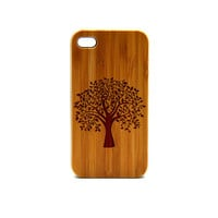 Real Wood iPhone 4s Case, tree  iPhone 4s Case, eyes iPhone 4s Case, Wood iPhone Case,