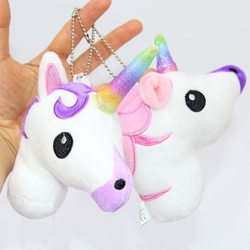 Cute Cartoon Unicorn Plush Doll Toy Rainbow Simple Soft Ornament Beautiful Personality Bags King Decoration