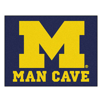 Michigan Wolverines NCAA Man Cave All-Star Floor Mat (34in x 45in)