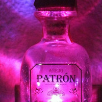 Patron Liquor bottle night light
