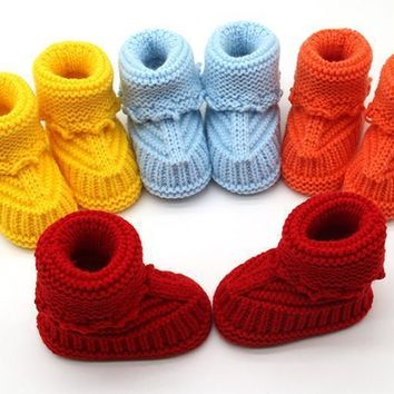 Fashion Online 1 Pair Winner Baby Shoes Toddler Newborn Baby Knitting Lace Crochet Shoes Buckle Handcraft Shoes For 0-6 Months Old