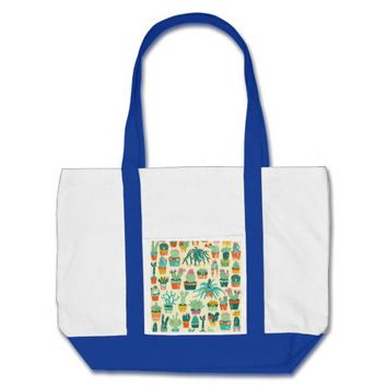 Cactus Flower Pattern Impulse Tote Bag