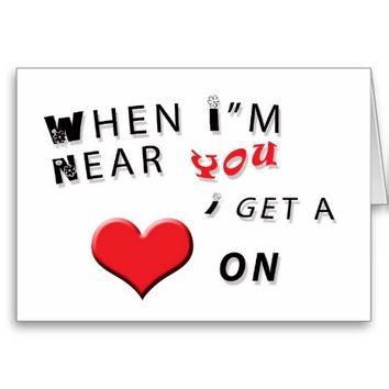 Valentine Anniversary Card Humorous Heart On