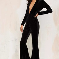 Bell It Like It Is Velvet Jumpsuit