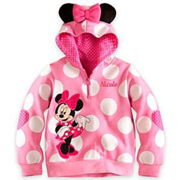 Minnie Mouse Ear Hoodie for Girls - Personalized | Disney Store