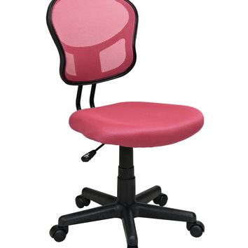 Office Star Pink Mesh Task chair