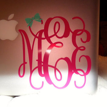 Monogram Decal With Bow