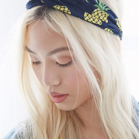 Pineapple Print Headwrap