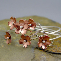 Cherry Blossom Flower Branch Cuff Spring Sakura by Hapagirls