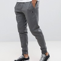 Polo Ralph Lauren Joggers Cuffed Slim Fit in Grey Marl at asos.com