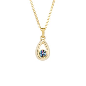 Iris Gold Drop Necklace