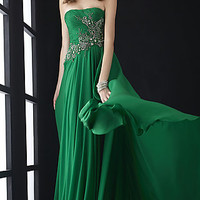 Full Length Strapless Formal Gown