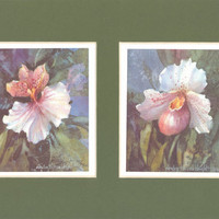 Delight I and II 12 x 8 matted lithographs