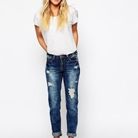 New Look Ripped Boyfriend Jean at asos.com