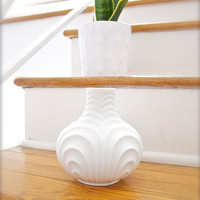Mid Century West German Matte White Porcelain Vase by Heinrich