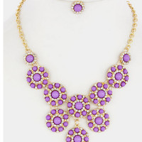 Its Only Make Believe Necklace Set - Purple