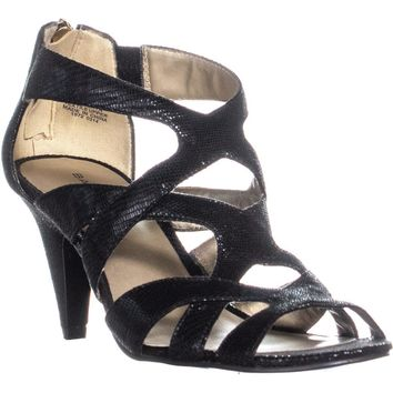 Bandolino Daenyn Heeled Sandals, Black, 6.5 US