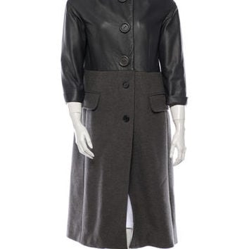 Marc Jacobs Leather and Cashmere Coat
