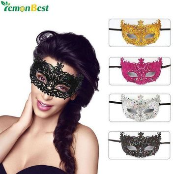 MDIGYN5 Party Mask Women Masquerade Masks Gorgeous Glitter Venetian Mask Sexy Women Eye Masquerade Masks for Carnival Halloween Costume