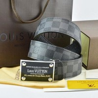 Louis Vuitton Fashion Smooth Buckle Belt Leather Belt