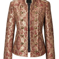 Banana Republic x Olivia Palermo | Brocade Military Jacket | Banana Republic