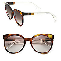 Fendi - Colorblocked 55MM Round Sunglasses - Saks Fifth Avenue Mobile