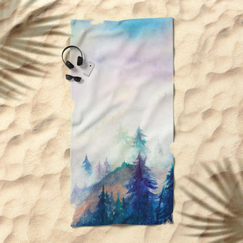 Into The Mist Beach Towel by Marco Gonzalez