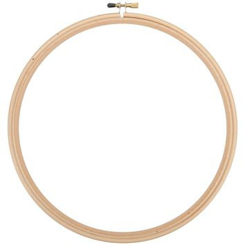 Natural Frank A. Edmunds Wood Embroidery Hoop W/Round Edges 12""