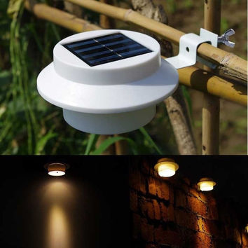 Solar Power Powered 3 L Fence Outdoor Garden Light Gutter Fence L Wall  D_L = 1712969220